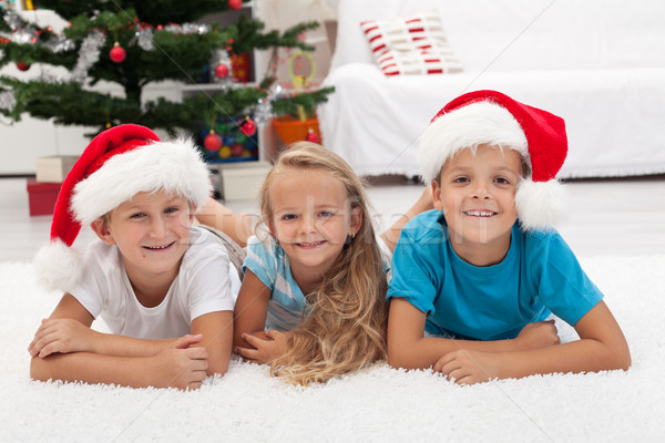 Happy kids at christmas time Stock photo © ilona75