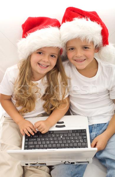 Zoeken perfect christmas geschenk online kinderen Stockfoto © ilona75