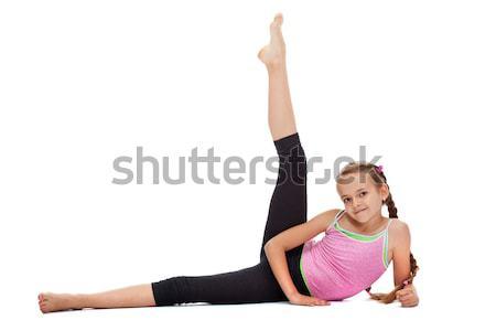 Joven pierna fuerza flexibilidad piso Foto stock © ilona75