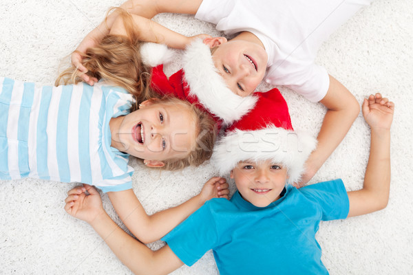 Stock photo: Happy kids at christmas time