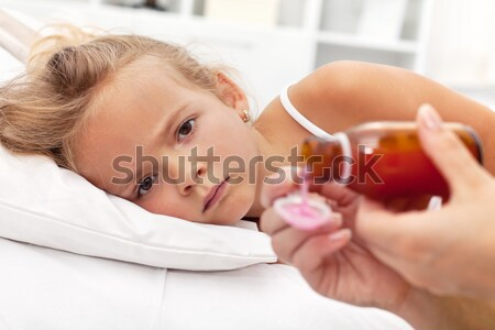 Respiratory system illness concept Stock photo © ilona75