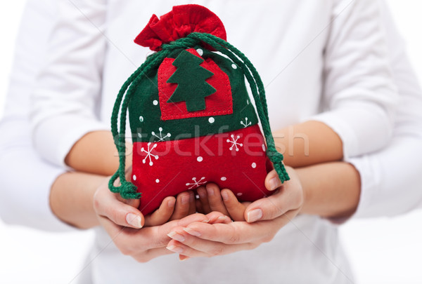 Giving presents to the loved ones at christmas concept Stock photo © ilona75