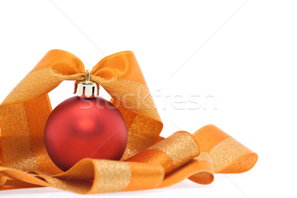 Christmas decoration in red and orange tones Stock photo © ilona75