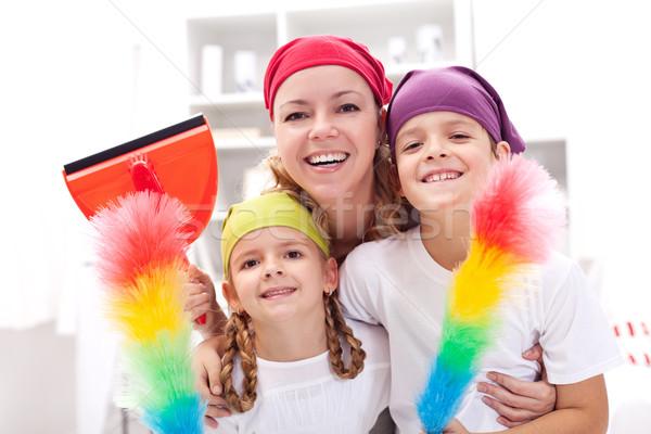 洗浄 女性 子供 片付ける アップ ストックフォト © ilona75