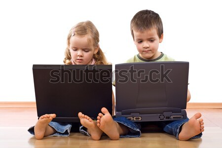 Kids with laptops Stock photo © ilona75