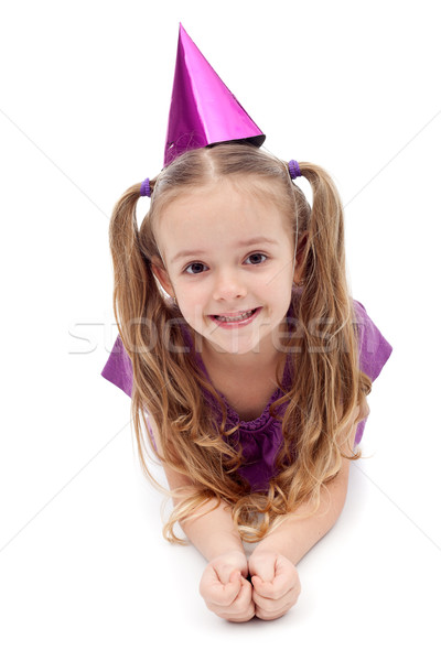 Purple party girl Stock photo © ilona75