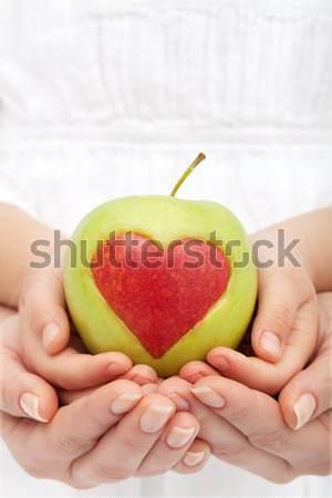 Segít gyerekek egészséges étrend élet kezek étel Stock fotó © ilona75