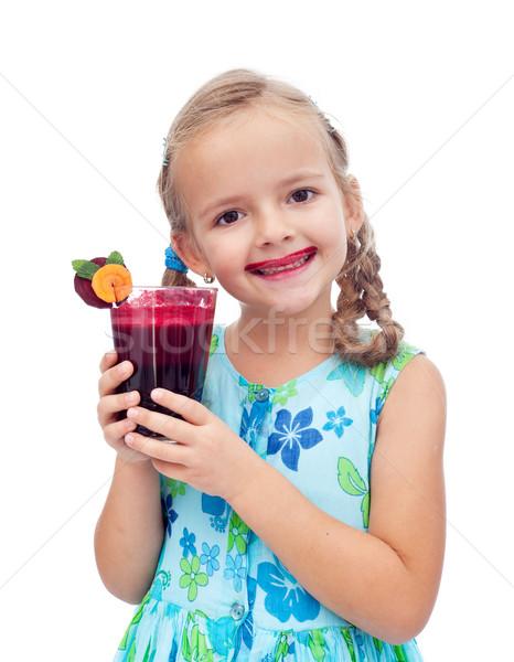 Taze sağlıklı kız mutlu çocuk Stok fotoğraf © ilona75
