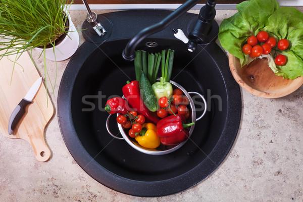 Stok fotoğraf: Sebze · üst · görmek · salata · malzemeler