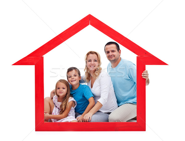 Family and home concept Stock photo © ilona75