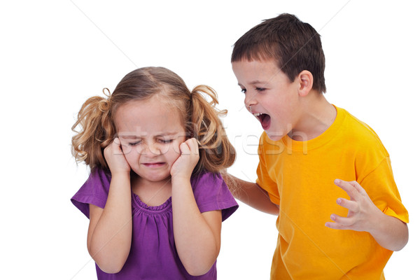 Quarreling kids Stock photo © ilona75