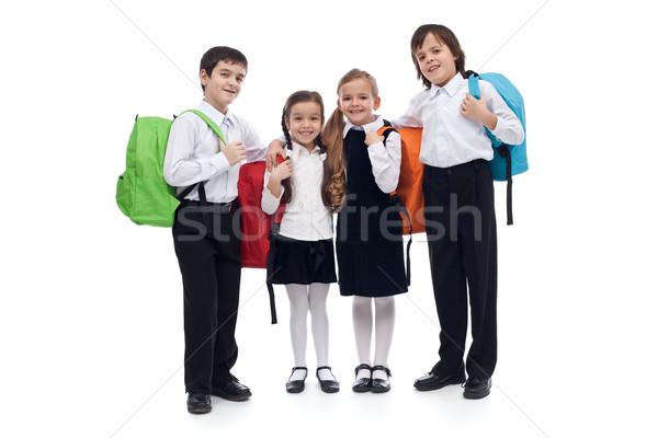 Heureux école élémentaire enfants coloré Retour fille Photo stock © ilona75