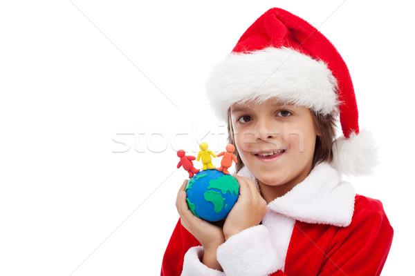 Рождества вместе мальчика мира различный Сток-фото © ilona75