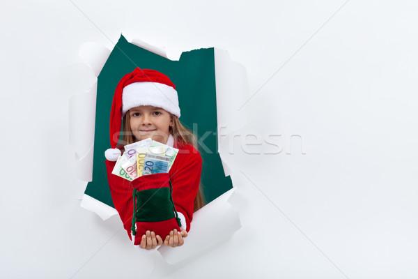 Peu argent fêtes trou Photo stock © ilona75