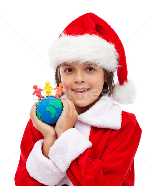 Merry christmas for all the world concept Stock photo © ilona75