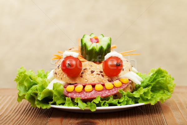 Creative food - the frog king sandwich Stock photo © ilona75