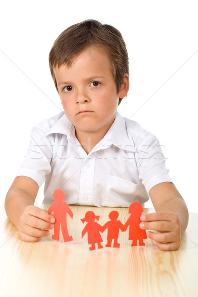 Divorce concept with sad kid Stock photo © ilona75