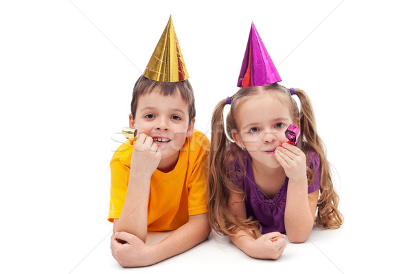 Party kids - isolated Stock photo © ilona75