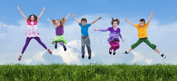 Happy spring jump Stock photo © ilona75