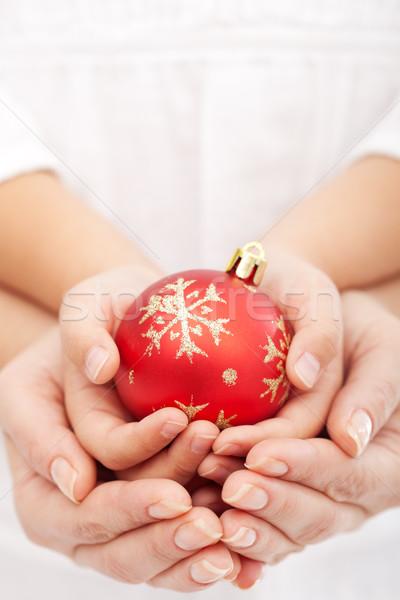 クリスマス 一緒に 子 成人 手 ストックフォト © ilona75