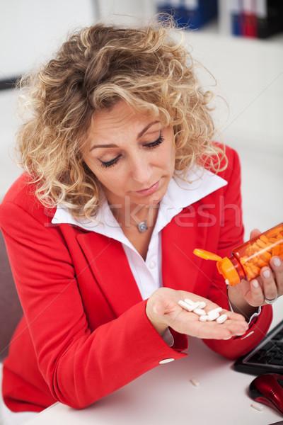 устал женщину таблетки служба истощение Сток-фото © ilona75