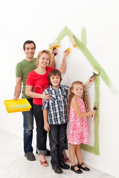 Family painting together Stock photo © ilona75
