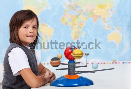 Young boy in geography class Stock photo © ilona75