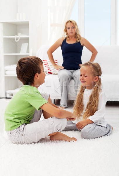 Quarreling and fighting kids Stock photo © ilona75