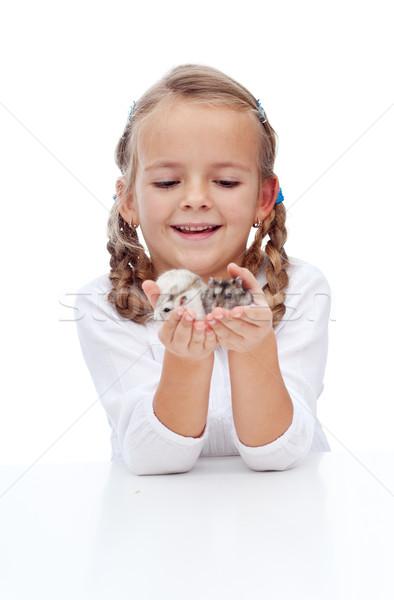 Enyém kicsi haverok lány kéz szeretet Stock fotó © ilona75