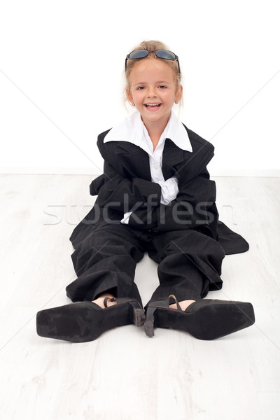 Happy business woman wannabe Stock photo © ilona75