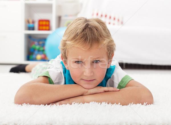 Beautiful kid resting on the floor Stock photo © ilona75
