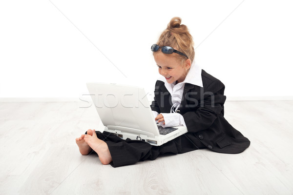 Little girl playing career woman role Stock photo © ilona75