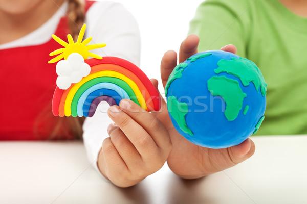 Environmental awareness and education concept Stock photo © ilona75