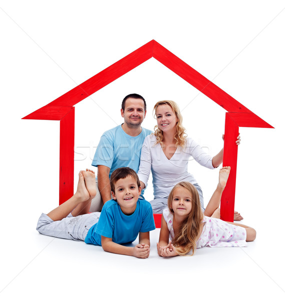 Happy home concept Stock photo © ilona75