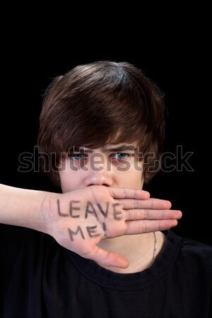 Teenager refusing help Stock photo © ilona75