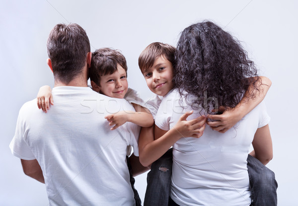 Family with kids Stock photo © ilona75