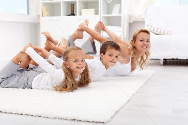 Casa família vida saudável educação mulher Foto stock © ilona75