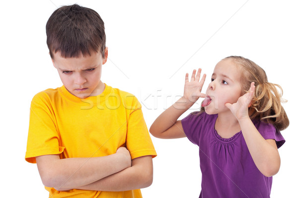 Stock photo: Mocking and teasing among children