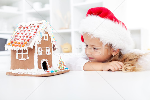 My christmas gingerbread cookie house Stock photo © ilona75