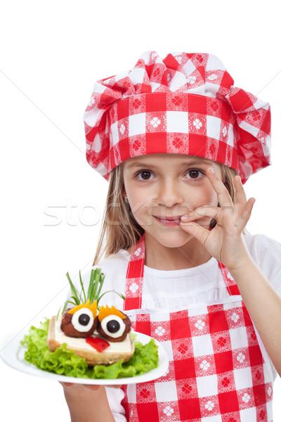 Little chef with creative food Stock photo © ilona75