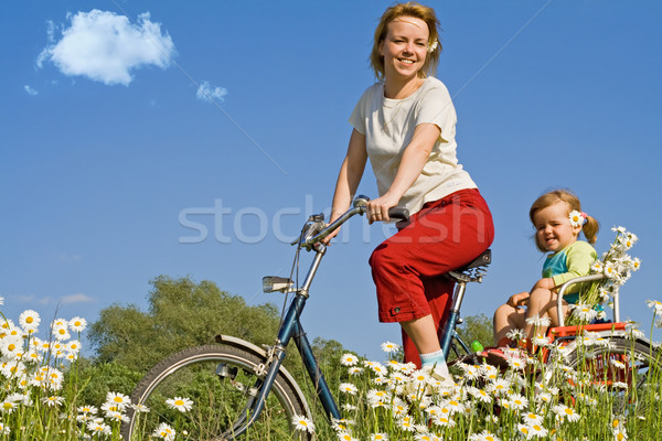 Stock photo: Riding on the countryside with a bike