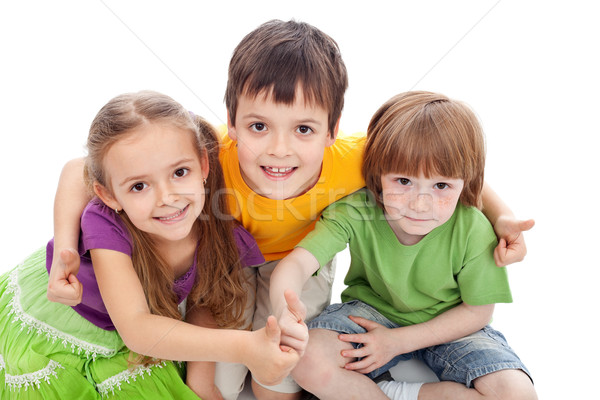 детство друзей дети знак Сток-фото © ilona75