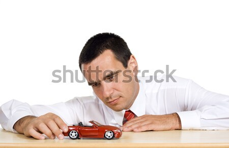 Businessman planning to buy a new car Stock photo © ilona75