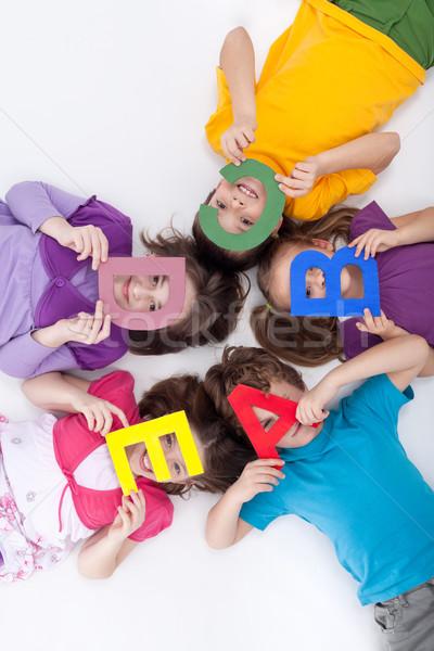 обучения играет дети большой алфавит письма Сток-фото © ilona75