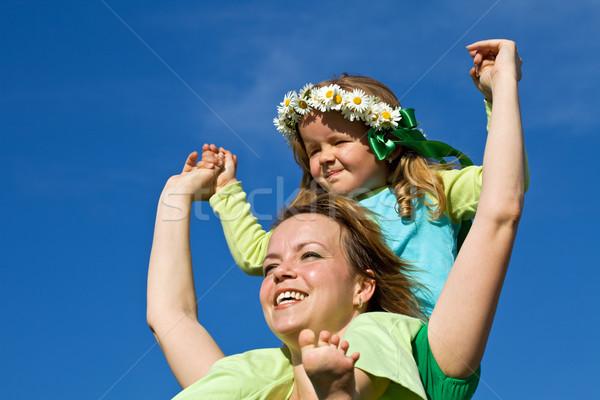 Stock fotó: Tavasz · nyár · itt · nő · boldog · kislány