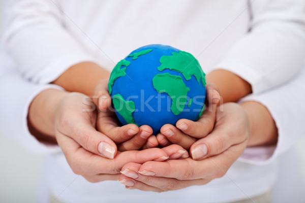 Our legacy to the next generations - a clean earth Stock photo © ilona75