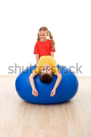 Enfants exercice balle gymnase Photo stock © ilona75