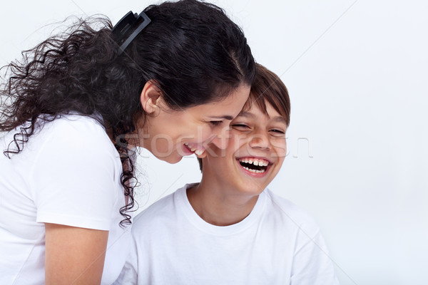Madre hijo funny momento riendo Foto stock © ilona75