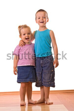 Happy siblings posing for the camera Stock photo © ilona75