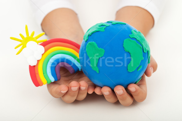 Ecology concept - a clean earth Stock photo © ilona75